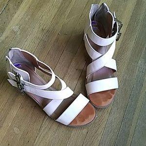 Strappy heel sandals